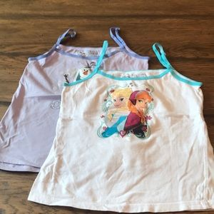 Two girls camis Frozen size 8